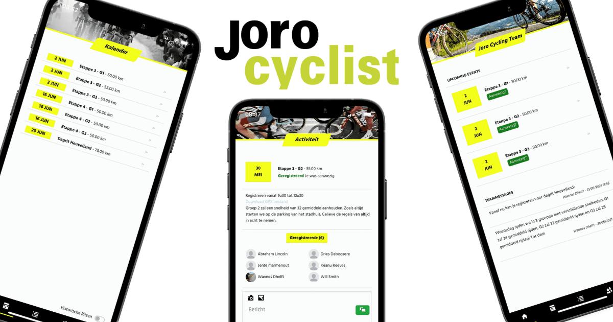 Jorocyclist: de app voor wielerclubs!