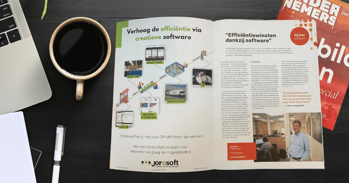 """Voka Ondernemers – Jubilarissen editie: """"Efficiëntiewinsten dankzij software"""""""