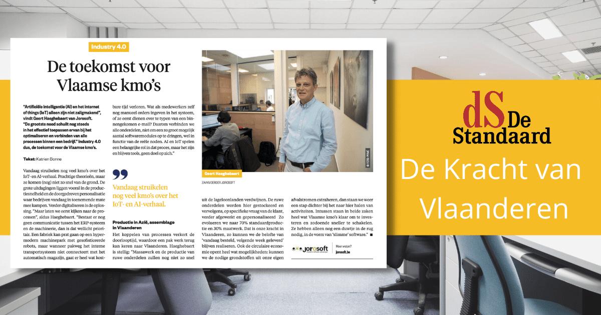 De Kracht van Vlaanderen (De Standaard): Industrie 4.0, de toekomst voor Vlaamse kmo's