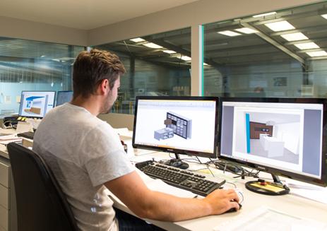 Group Nivelles: automatische 3D tekening tot badmeubel